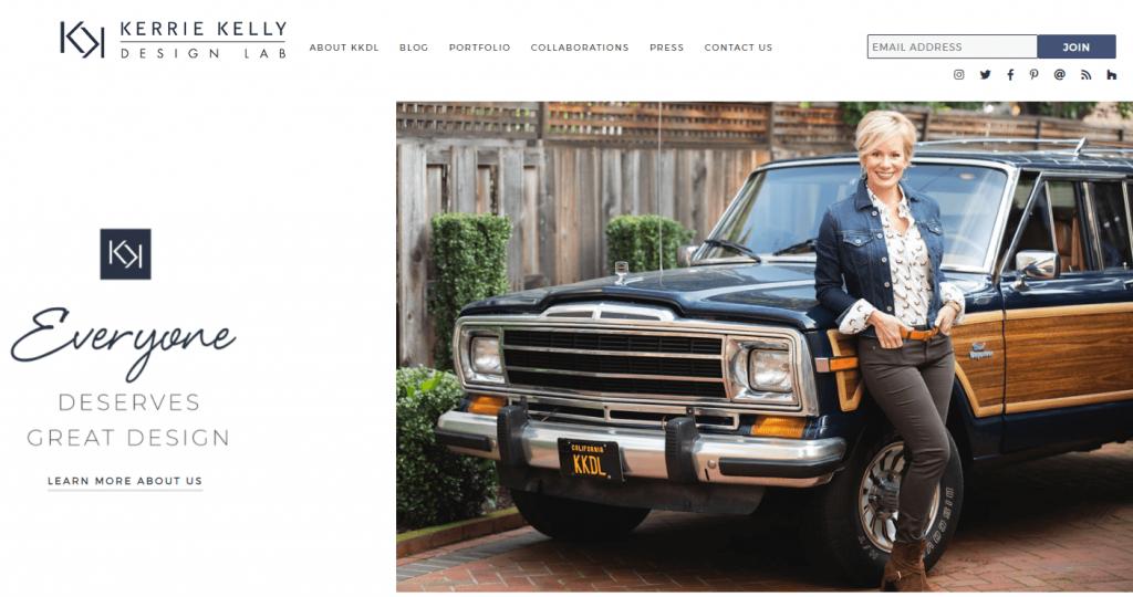 Kerrie Kelly designer website