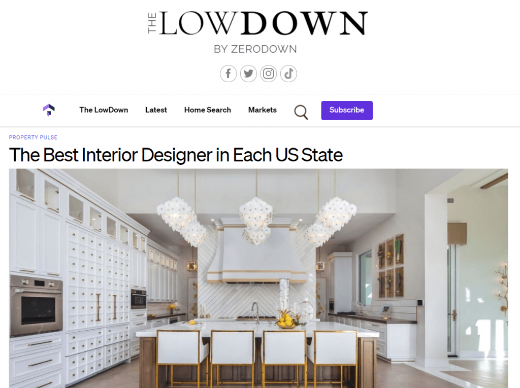 interior design digital publication feature example