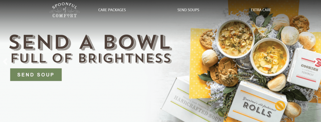 spoonful of comfort company for sending food gifts