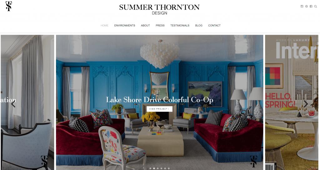 Summer Thornton designer website